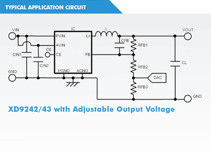 XD9242 Circuit with Adjustable Output Voltage