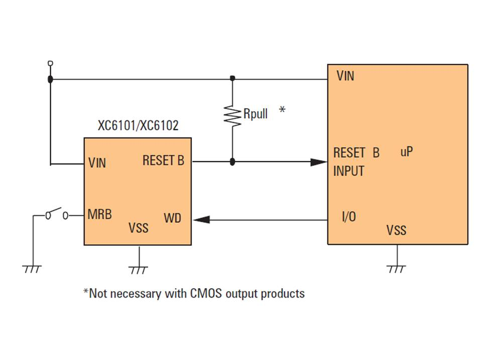 XC6101 Typical Application Circuit