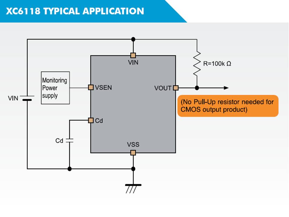 XC6118 Typical Application Circuit