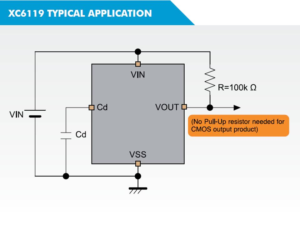 XC6119 Typical Application Circuit