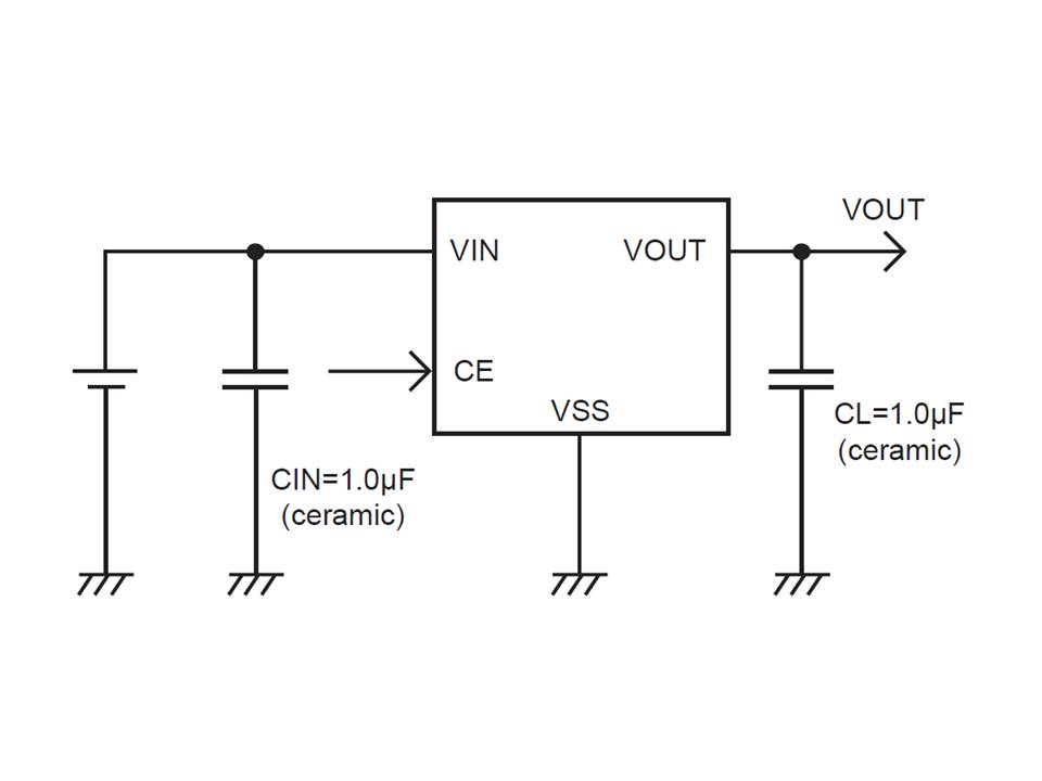 XC6215 Typical Application Circuit