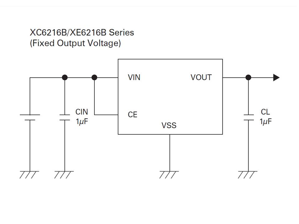 XC6216 Typical Application Circuit