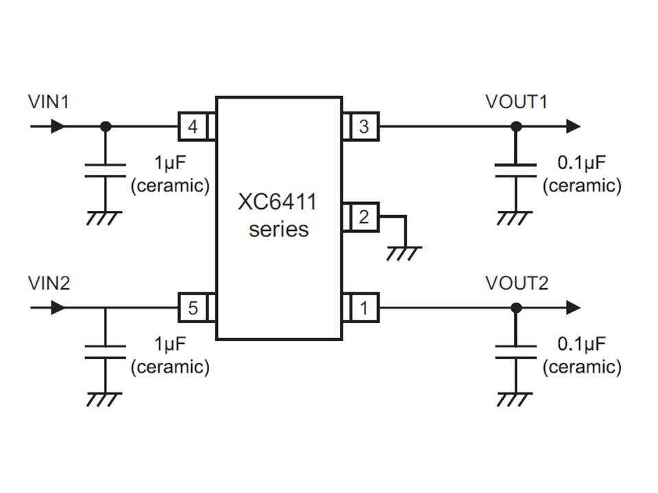 XC6411 Typical Application Circuit