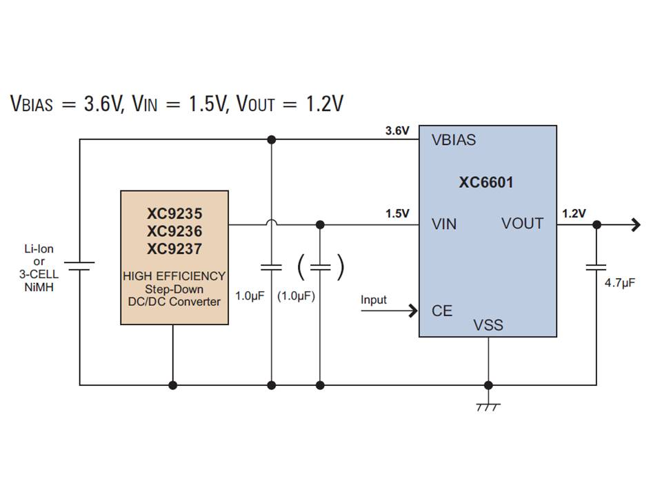XC6601 Typical Application Circuit