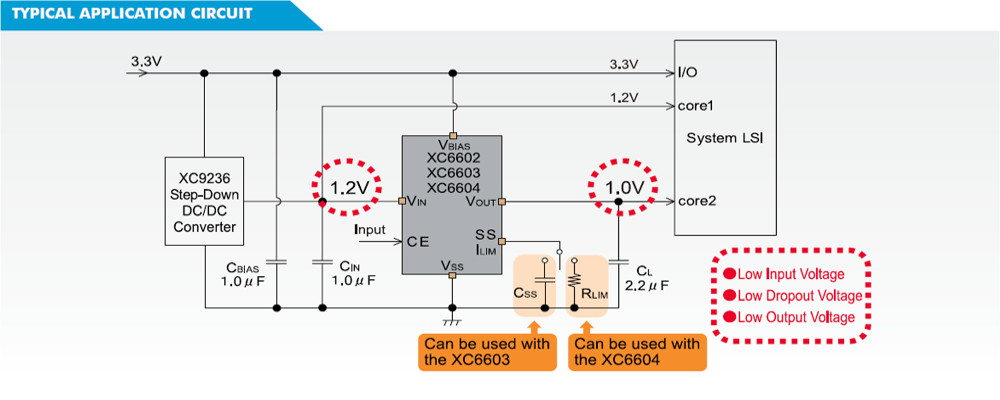 XC6604 Typical Application Circuit
