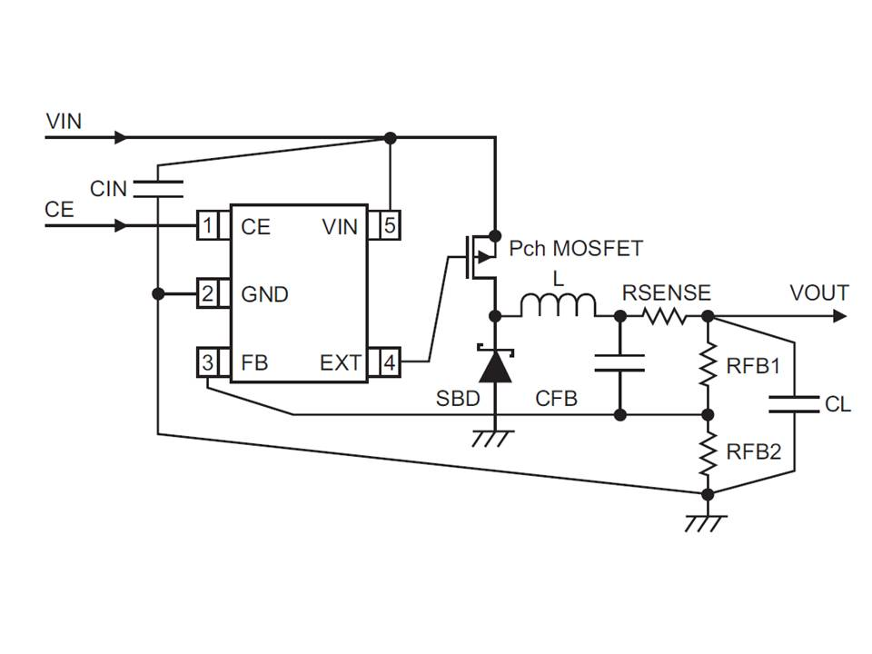 XC9220 Typical Application Circuit