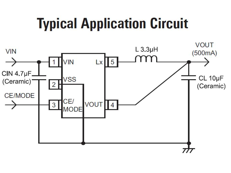 XC9225 Typical Application Circuit