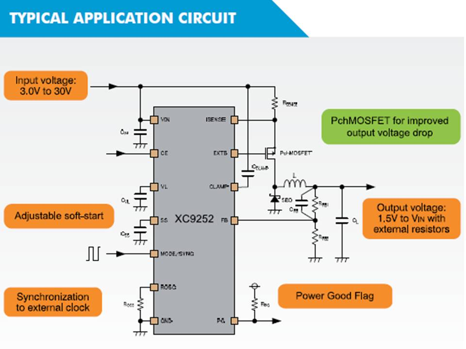 XC9252 Typical Application Circuit