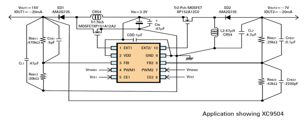 XC9504 Typical Application Circuit